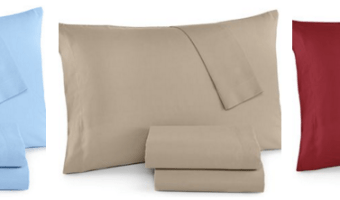 Macy's: 220-Thread Count 4-Piece Queen Sheet Sets ONLY $8.99 Each (Regularly $45!) Expired