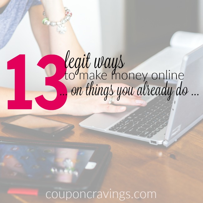 Can anyone make money online? Of course! I compiled 13 ways that anyone can make money at home - surveys, ideas and more. Some that I am guessing that you haven't even heard of. https://couponcravings.com/?s=make+money