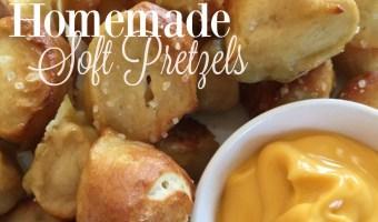 Homemade Soft Pretzels Recipe Appetizer