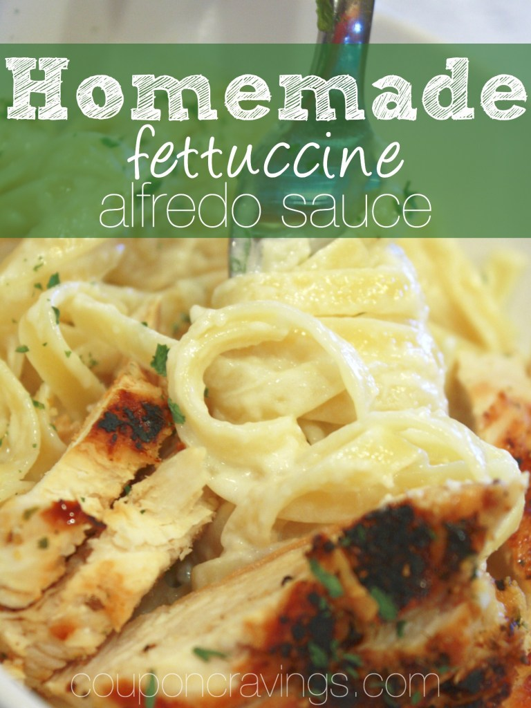 I LOVE this alfredo sauce. Easy no cream cheese recipes are awesome - if you're looking for an alfredo sauce without cream cheese, this is the fettuccine alfredo sauce recipe for you! https://couponcravings.com/alfredo-sauce/
