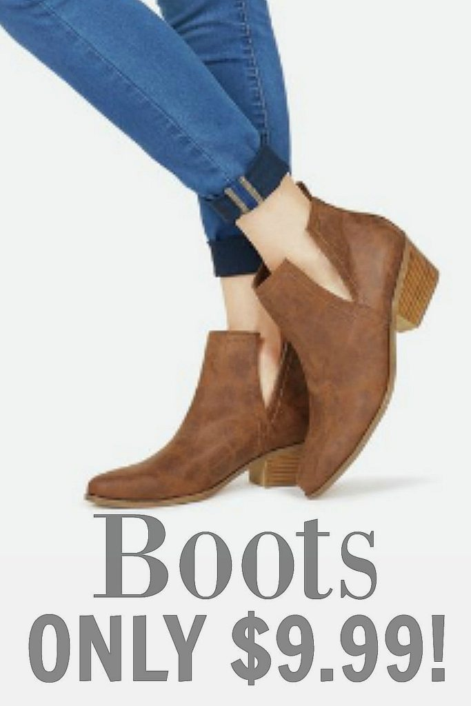 Looking for boots for fall? Tall fashion, Short boots fashion... whichever boot looks you're going for, get them for $10 - I got THIS pair and I LOVE them!