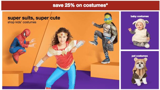 Target Halloween Costumes, an Additional 25% Off Today Only! -