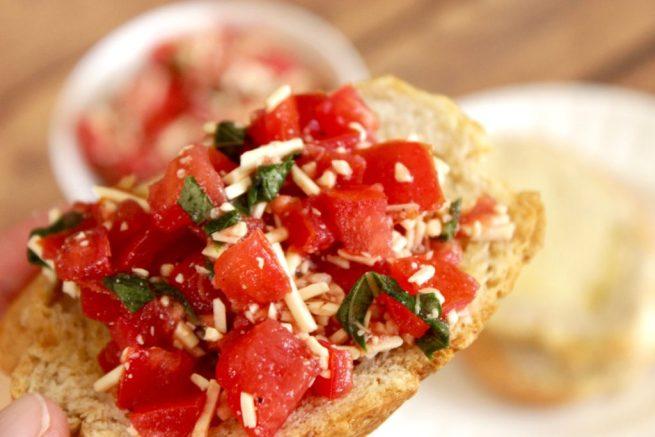 easy bruschetta recipe appetizer