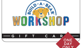 $100 Build-a-Bear Gift Card ONLY $69.88