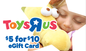 Select Groupon Users: $20 Toys 'R' Us Gift Card, Only $10!