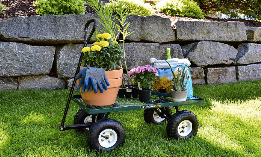 Gorilla Steel Utility Cart with Removable Sides, Only $56!