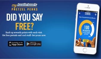 FREE Auntie Anne's Pretzel!