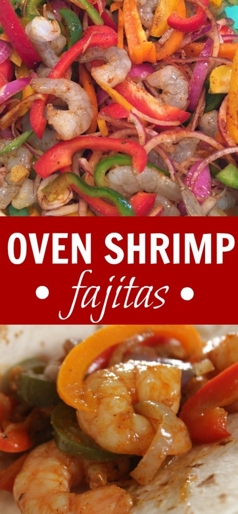 Are you looking for an easy shrimp dinner? This shrimp fajitas recipe - healthy, albeit is AMAZING! Total WOW dinner! And, an easy dinner, too!