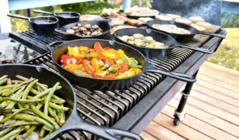 Grill Veggies on Your Grill | Cast Iron Pan ONLY $6.27!