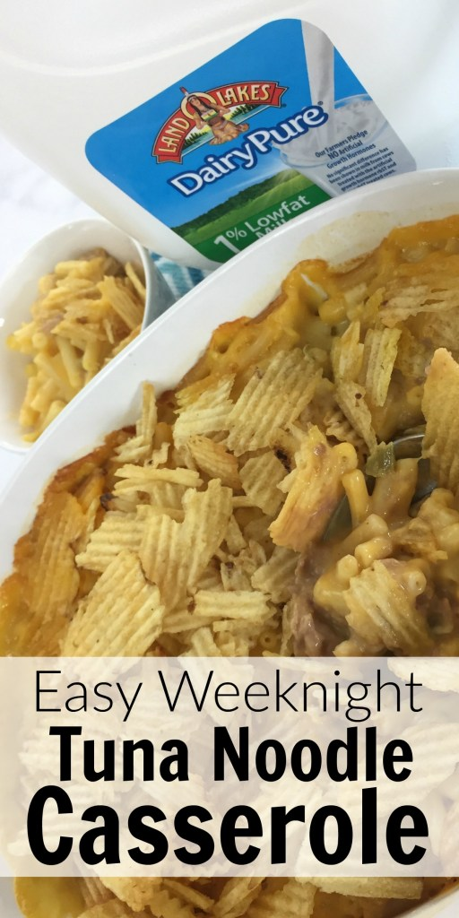 This easy tuna noodle casserole is one of our kids favorite meals!
