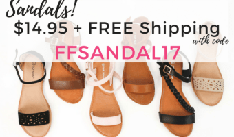 Cents of Style: Summer Sandals Ship for ONLY $14.95!