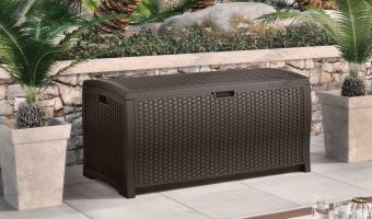 Suncast Wicker Resin 99-Gallon Deck Box Only $79 Shipped (Reg. $111!)