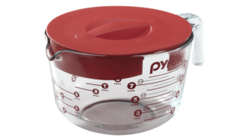 Pyrex 8-Cup Glass Measuring Cup with Lid, Less Than $13!