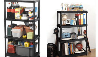HomeDepot.com: 4 Shelf Storage Shelving Unit Only $19.88