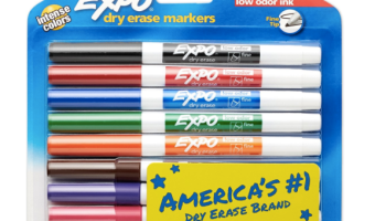 8 EXPO Dry Erase Fine Tip Markers just $6.86!