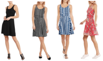 Faded Glory Women's Easy Knit Shirred Flip Flop Dresses ONLY $5 Each!