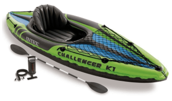 Intex Challenger K1 Kayak with Oars and pump Only $49.99
