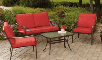 Mainstays Cushioned 4-Piece Patio Conversation Set Just $159