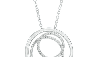 Diamond Accent Three Circle Sterling Silver Pendant Only $19.99 (Reg. $99.99!)