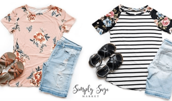 Boutique Floral Tops ONLY $12.99 Each!
