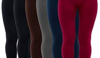 Low Price On 3 or 6-Pack Women's Fleece Lined Leggings