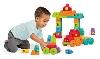 Half Off Mega Bloks ABC Learning Train Building Set