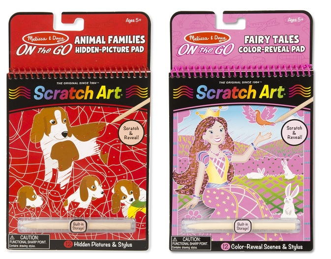 Melissa & Doug On the Go Scratch Art Pads