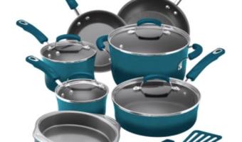 Rachael Ray 15-Piece Nonstick Cookware Set Only $99 (Reg. $129.99)