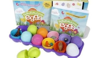 Resurrection Easter Egg Set with Religious Figurines $17.50