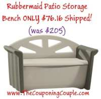 Rubbermaid Patio Storage Bench ~ $76.16 Shipped (was $205)