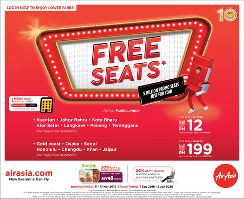 AirAsia Sale March 2019 - Coupon Malaysia. Malaysia Sales. Malaysia Freebies. Malaysia Promotion. Vouchers & Coupon Codes. Warehouse Sales. Daily ...