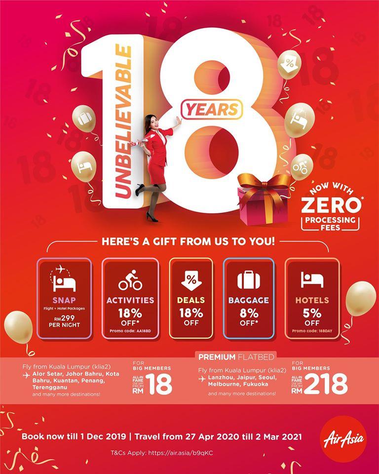AirAsia promotion 18th Birthday Celebration Nov 2019 - CouponMalaysia.com