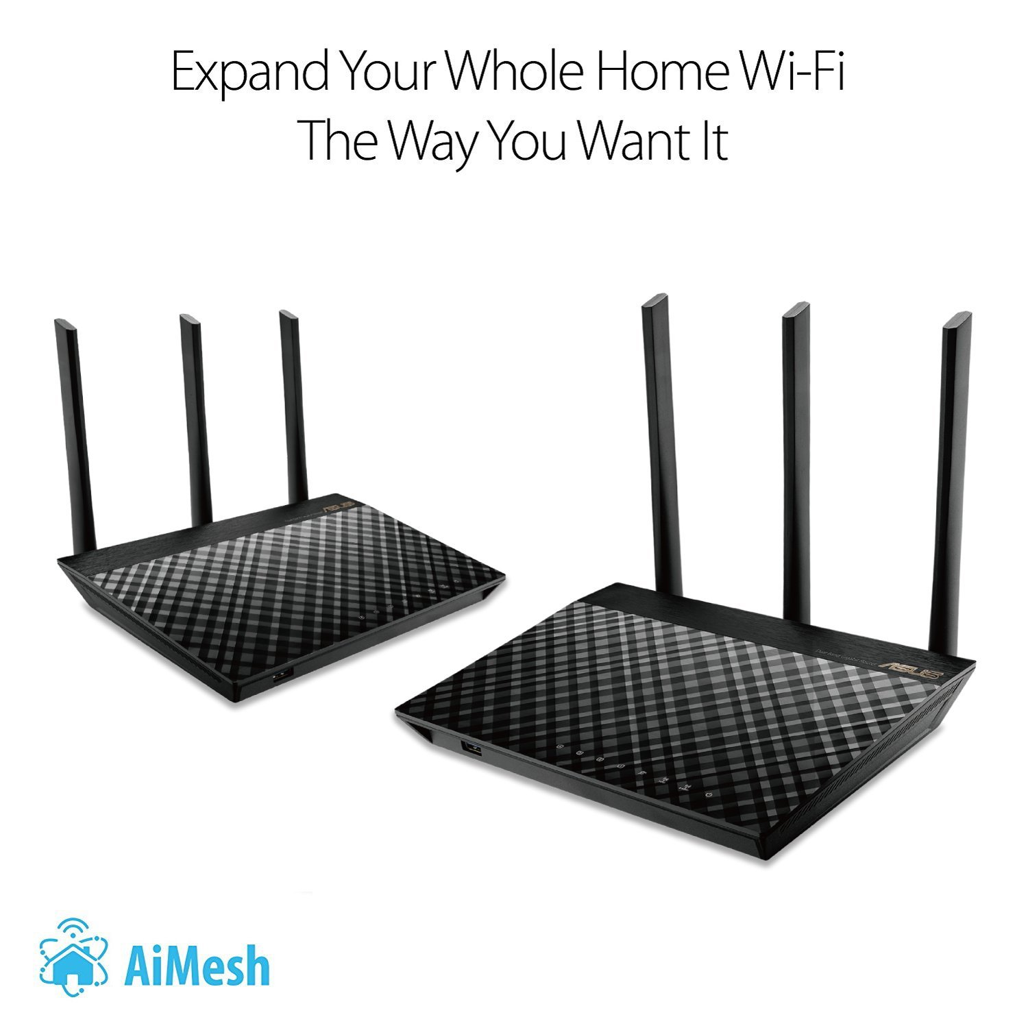 ASUS AC1900 Dual Band Whole Home Mesh Wi-Fi System for