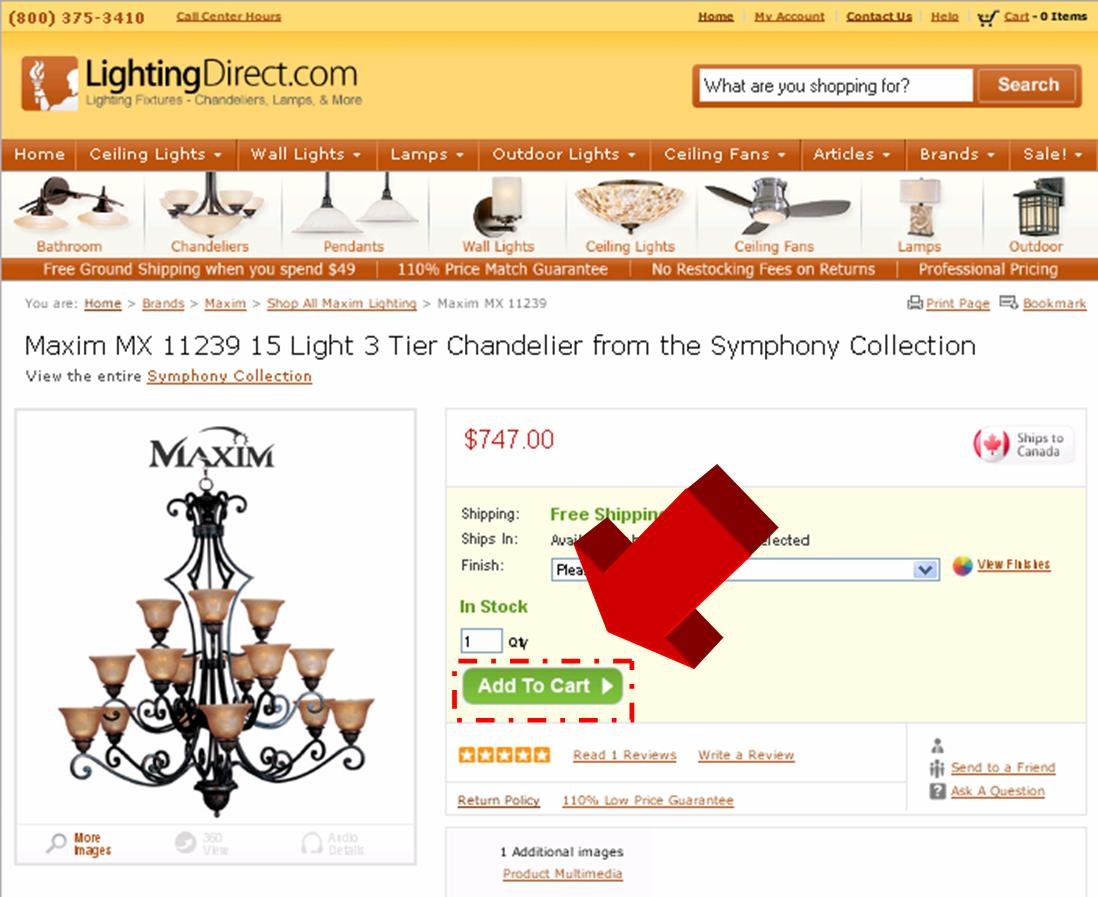 Steps to Entering Lighting Direct Coupon Code  Coupon Code