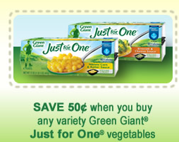 $0.50 ANY Green Giant Just for One Vegetables Printable ...