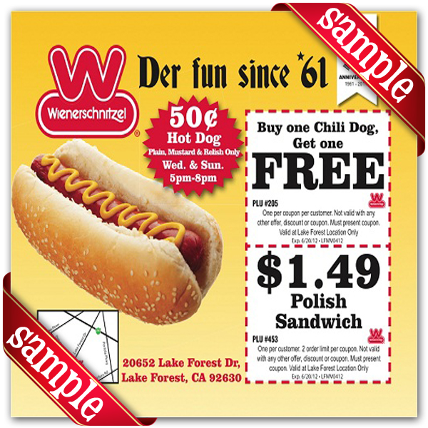 image regarding Chili Printable Coupons titled Wienerschnitzel Coupon codes April 2019 - Woonkamer decor ideeën