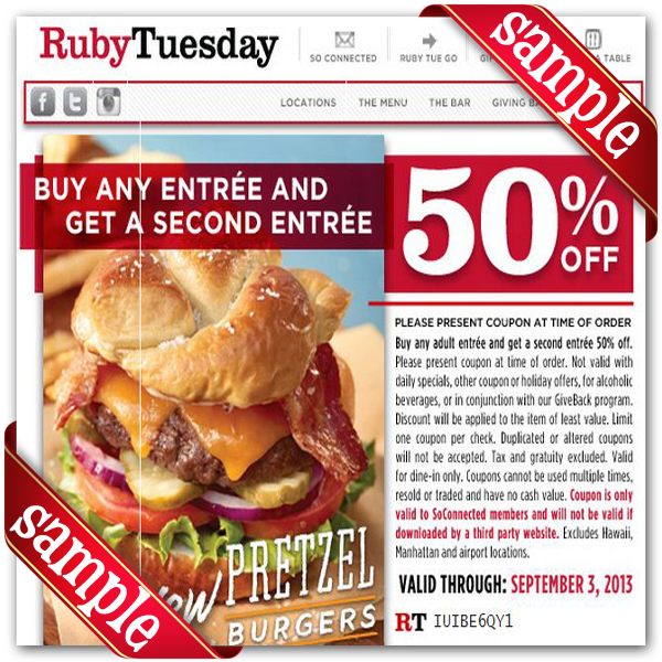photograph relating to Ruby Tuesday Printable Coupons identified as Ruby Tuesday Discount codes - Desain Terbaru Rumah Ground breaking Minimalis