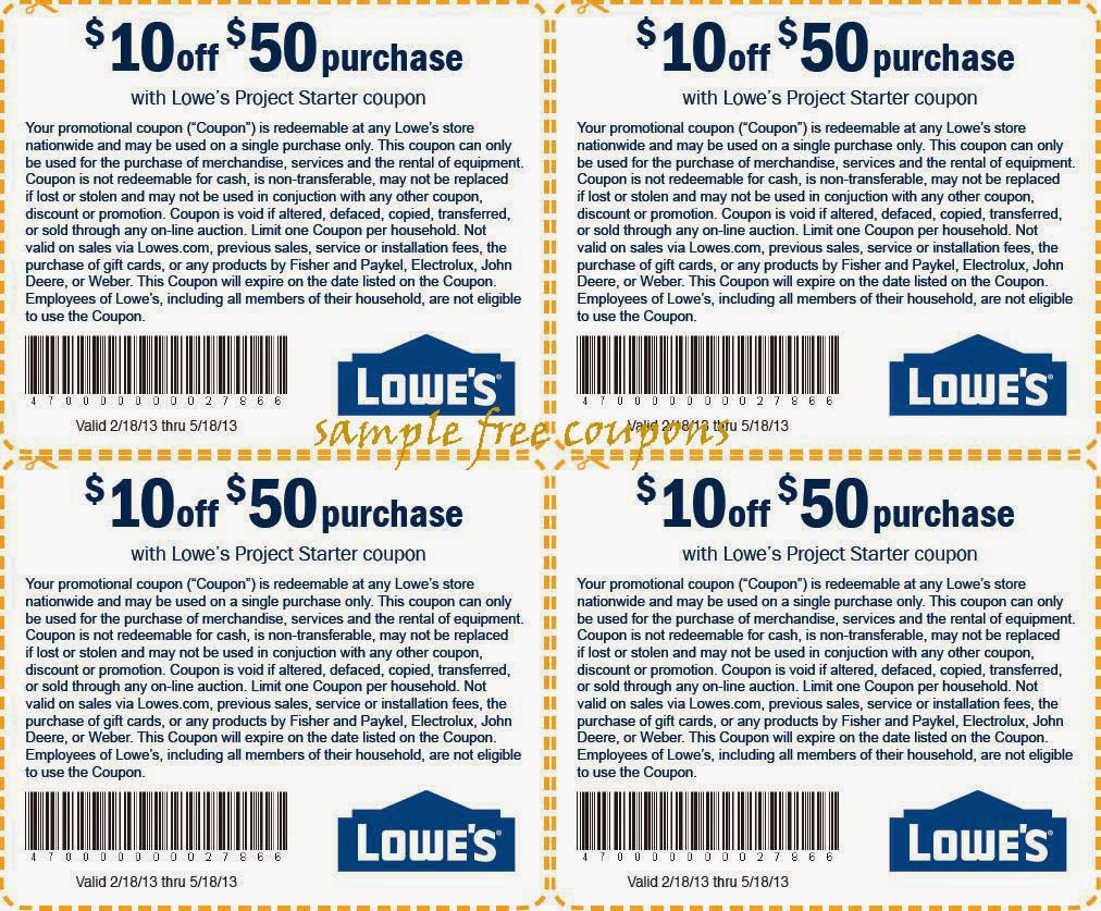 10 Percent Off Lowes Coupon Printable