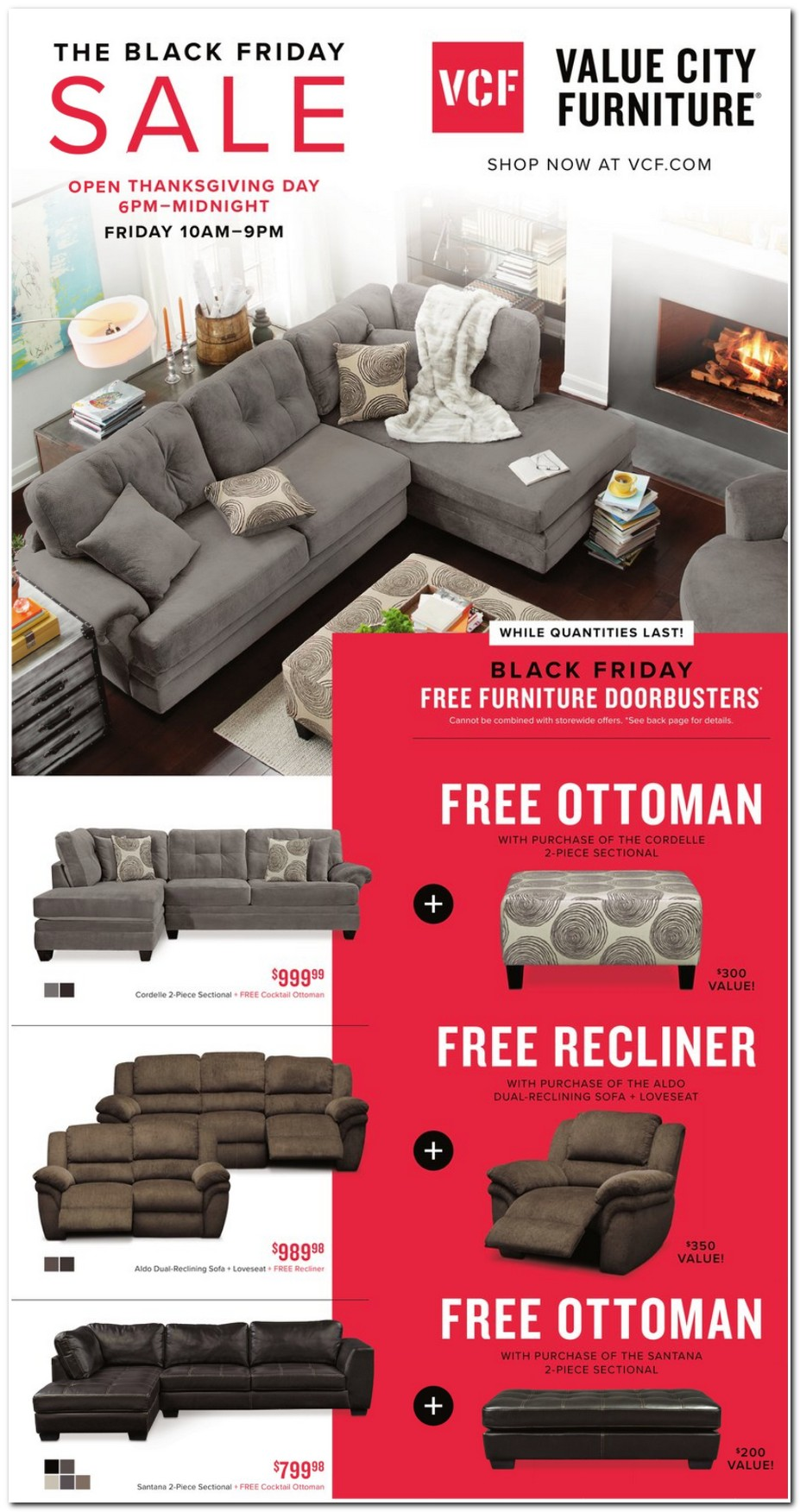 sectional sofa value city furniture twin bed frame black friday ads, sales, deals 2017 ...