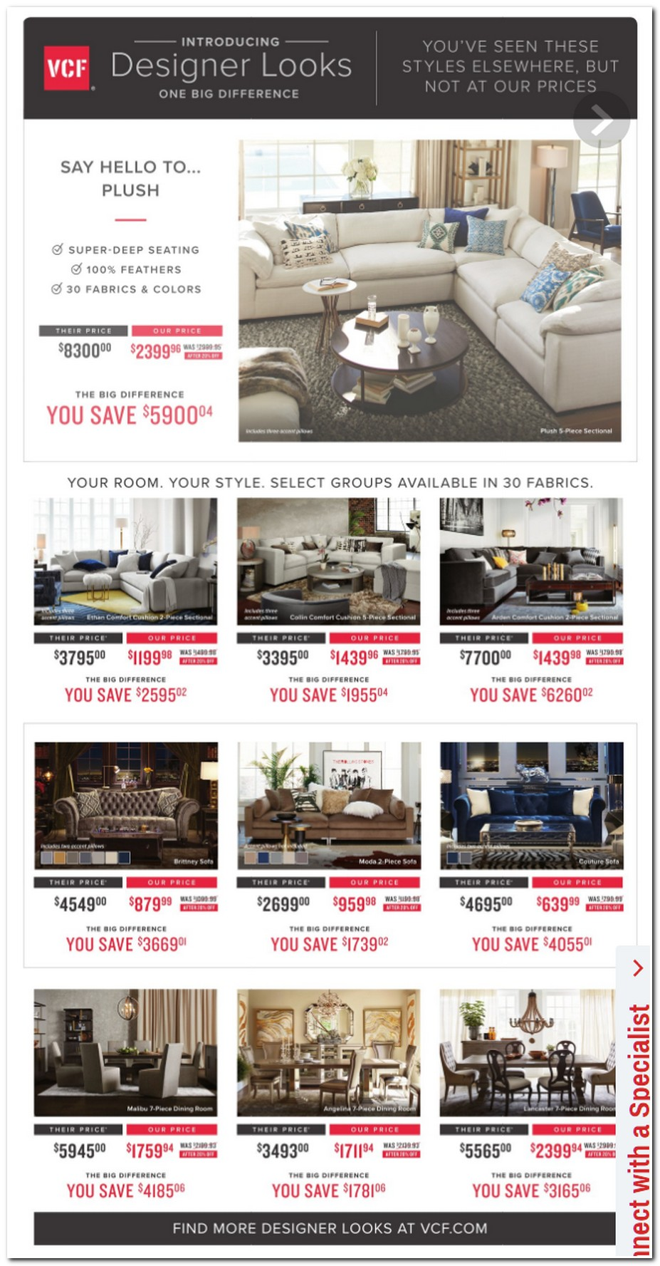 sectional sofa black friday 2017 bamboo value city furniture ads, sales, deals ...