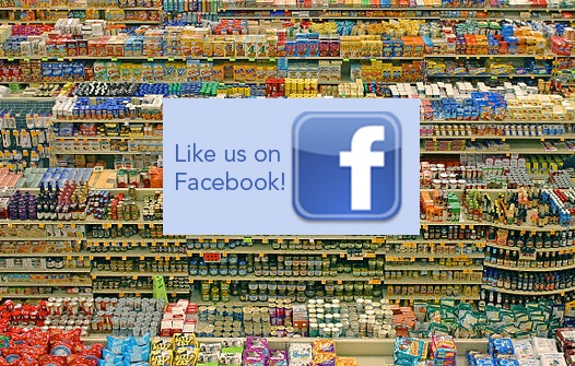 Supermarket Facebook likes