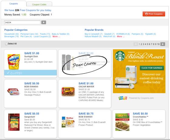 Coupons.com Redesign