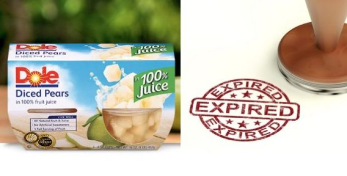 Expired Dole fruit cups