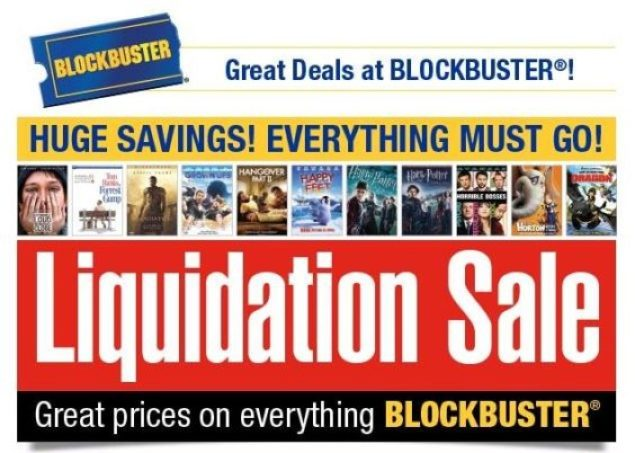 Blockbuster liquidation