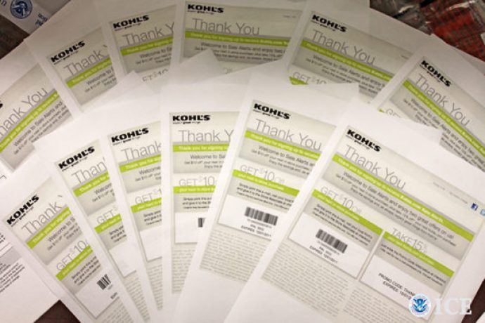 Kohl's counterfeit coupons