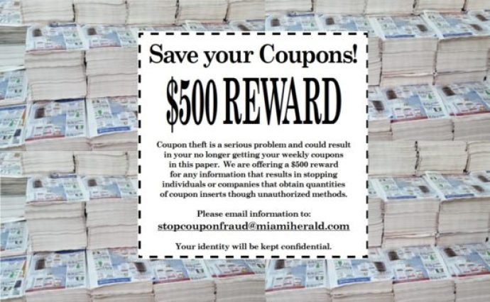 Miami Herald coupon reward