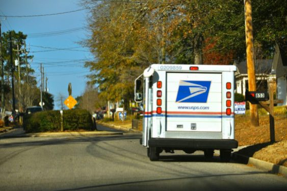 postal truck photo