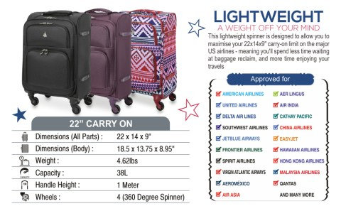 5 extra discount on luggage