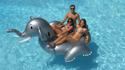64 off new style outdoor inflatable elephant fountain pool