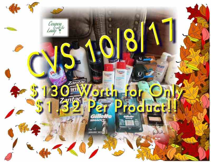 CVS Coupon Haul for 10/8/17! Great Deals! $130 Worth for Only $1.32 per Product!